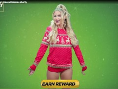 Brazzers survey ad: holiday Christmas sweater tits flash